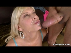 Hot blonde Brooke Biggs riding a monster cock and gets jizzed