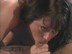 Busty milf Jewel Denyle munch a hard meat cock