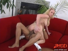 Taylor Lynn riding her cunt with a black hard cock