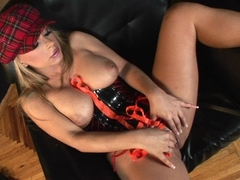 Beautiful Dorothy Black stuffing her wet pussy