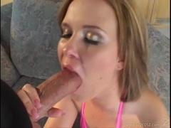 Wild bitch Sasha Knox deepthroats a long thick meatstick