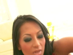 Naughty asian Gianna Lynn loves to suck a big white dick