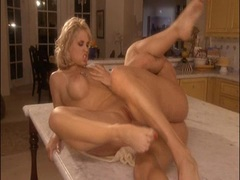 Sarah Vandella getting pounded hard on her pussy at the kitchen