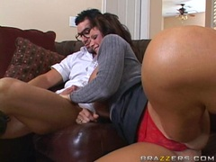 Big tits Deauxma blows a hardrick meat cock