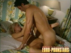 Sexy blonde Angie Scott gets pounded hard and crempied