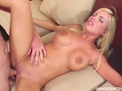 Britney Amber gettting pounded hard on her cunt sideways