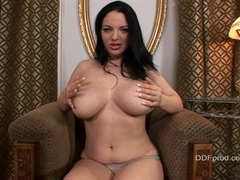 Joanna Bliss takes off her top and flashes her big juggs