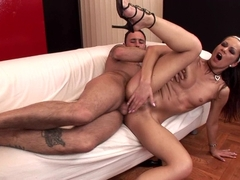 Hot and horny Angelina Crow gets her tight asshole gapped and drilled