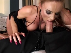 Horny busty Bonny Bon gets her ass tooled and gags a huge hard cock