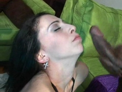 Vivacious Veronica Jett gets shot with a cumload