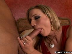 Horny milf Nikki Sexxx munching a long hard cock