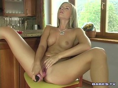 Jana Mrhacova masturbating her twat until she cums