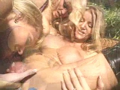 Nasty Amber Michaels and friends having a wild lesbian threesome action