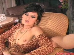 Horny babe Ava Rose fingers her wet pussy wearing a hot dress