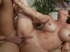 Raquel Devine getting pounded on her bald twat sideways