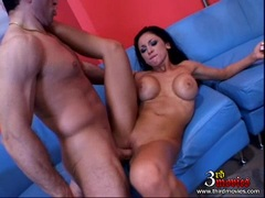 Audrey Bitoni recieves a fresh load of cum in her mouth