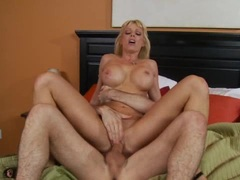 Holly Sampson loves to pump her wet pussy on a hard meat cock