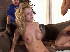 Vivian West recieves a mouthful cum after getting drilled on her ass