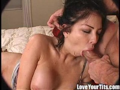 Chloe Dior takes a hard meat cock deep in her throat