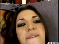 Sex mad Alicia Angel gets pounded hard and creampied pov