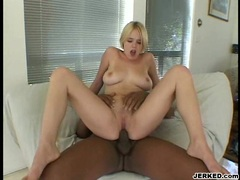 Missy Monroe gets her twat pinned on a big black dong