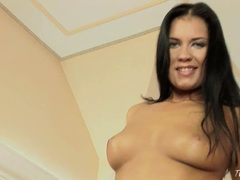 Veronica Da Souza takes her fingers into her wet pussy