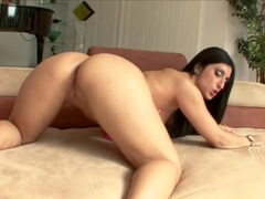 Latina Luscious Lopez gets her pussy eaten and sucks big white cock