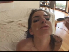 Babe Roxxxy Rush gets dominated and takes messy warm facials