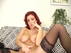 Ashley Robbins takes her fingers into her wet snatch until she cums