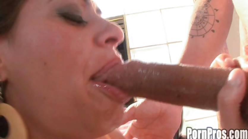 Ebony Sloppy Blowjob White