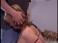 Huge juggs Lisa Sparxxx takes abig hard cock deep in her throat