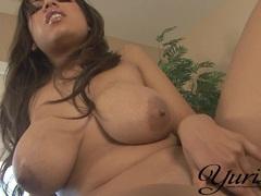 Big titted latina Yurizan Beltran having hot solo masturbation action