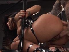 Gorgeous slut Jenaveve Jolie gets banged hard from behind