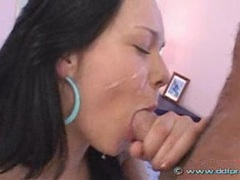 Susie Diamond recieves a mouthful cum after getting nailed on her ass