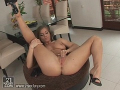 Beautiful Rita Faltoyano loves to play her tight wet pussy