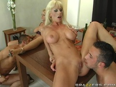 Hot Tanya James and friends loves a wild oral sex orgy