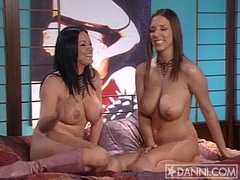 Sexy brunette Jelena Jensen getting cozy with her girlfriend in bed