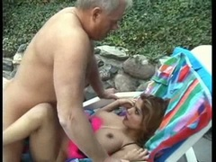 Busty latina Alexis Amore fucked hard and gets creamy mouthful outdoors