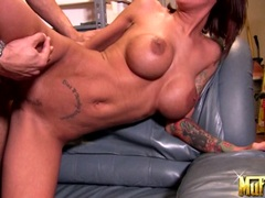Filthy whore Angelina Valentine bends over for a good fuck