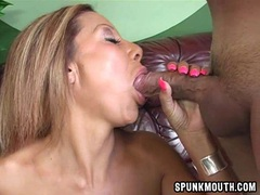 Hot Demi Delia deepthroating two massive poles