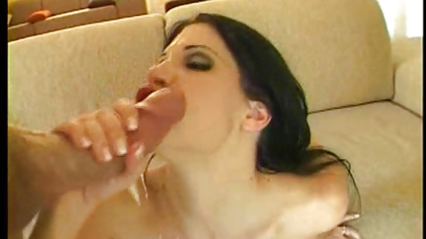 Beautiful brunette Rebeca Linares dominated hard and facialised