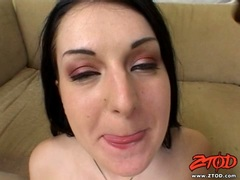 Sexy Renee Pornero gets double penetrated and facialised by big black cocks