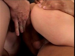Anal addict Jeanie Marie gets double penetrated by two massive cocks