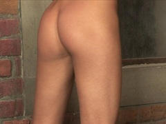 Horny Anita Pearl plays her wet hole with a huge toy