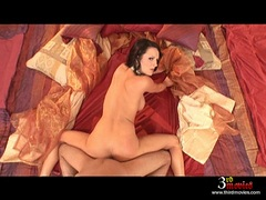Kinky babe Alektra Blue gets her tight pussy hammered hard doggystyle