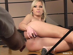 Hot slut Clara G gets naked and toys her pink pussy in a photoshoot