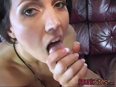 Tall erotic babe Dylan Ryder enjoys a cum blast on her face