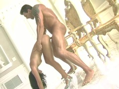 Horny slut Roxy Jezel gets her wet hole fucked hard and takes nasty cumshot