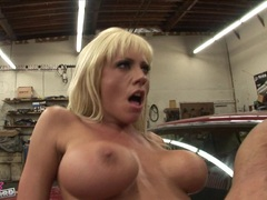Heavy titted Tanya James loved the taste of fresh jizz on her mouth