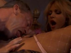 Pretty Carmel Moore sucks cock and gets her sweet pussy eaten
